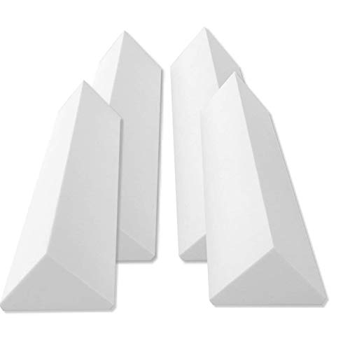 4 Bass Trap Eckabsorber Basotect ® G+ je 20,5x20,5x100 cm HiFi Akustik Elemente