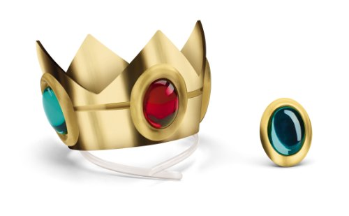 Disguise Nintendo Super Mario Brothers Princess Peach Crown and Amulet, No Size