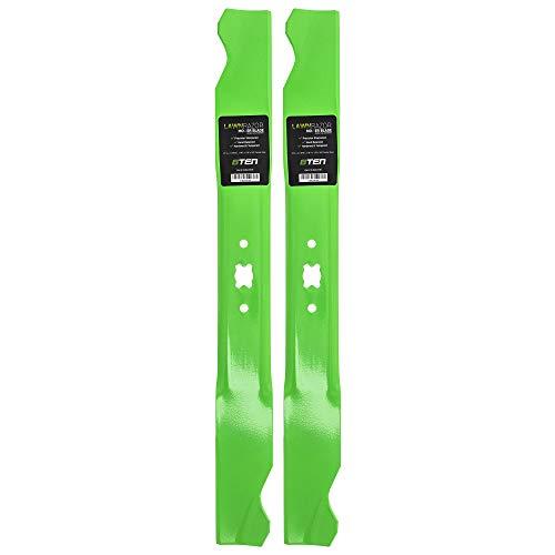 8TEN LawnRAZOR Hi-Lift Blade 21 Inch Deck for MTD Cub Cadet Troy-Bilt SC100 Tuff-Cut 220 742-0641 942-0641 2 Pack