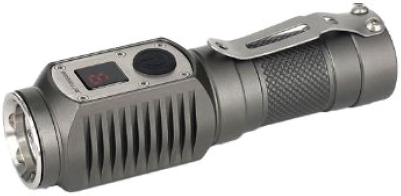 JetBeam DDC10 CREE XPG Digital Display LED Flashlight, Grey