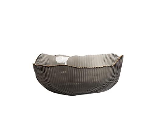 NAXIAOTIAO Ice Cream Bowl Transparent Glass Salad Bowl, 4-Piece Set Creative Phnom Penh Bowl, Sunflower Home Fruit Bowl,Gray,Large