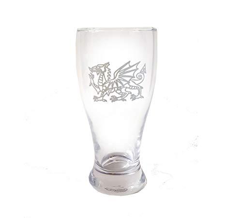 Welsh Dragon Celtic Pint Glass, Free Personalization