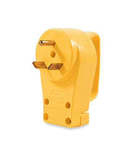 Camco Heavy Duty RV 30 AMP PowerGrip Male Replacement Plug- Durable and Safer Plug with an Easier Grip (55245)
