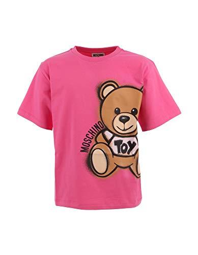 Moschino Maxi t-Shirt Bambina Azalea in Jersey di Cotone HQM02XLBA1850533K Rosa 10A