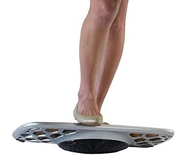 BASE+ Active Standing Desk Balance & Stability Board. Aluminum+Bamboo Wobble Platform Trainer for Home, Office, Rehab, Fitness. Full Range of Motion. Surf Your Desk!