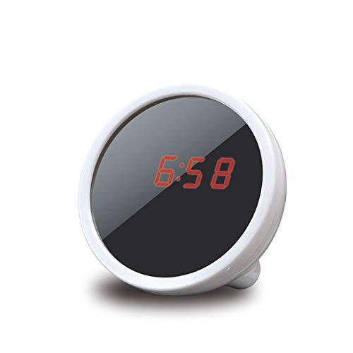 Belleashy Espejo de maquillaje Digital reloj despertador maquillaje espejo portátil iluminado para el cuarto de baño