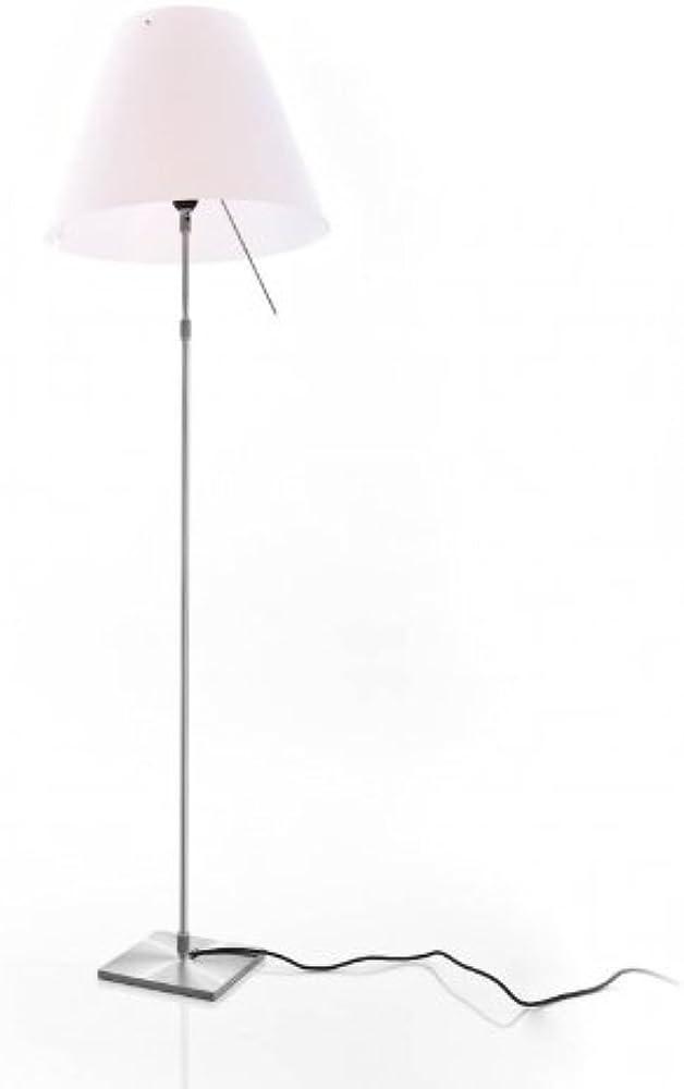 Luceplan,lampada da terra a stelo costanza,teleso/on/off, struttura in alluminio, altezza 120-160 cm 1D130T010020+1D13002NT002 (13