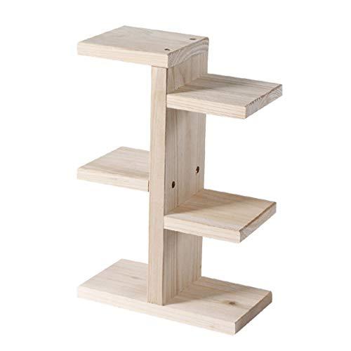Bloemenstandaard van hout, decoratief frame, multifunctionele bureau-bloempot, houten frame, geschikt voor fotolijsten, kamerplanten, decoraties, gevarieerde boeken