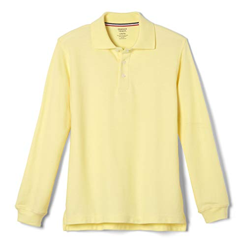 French Toast Little Boys' Long-Sleeve Pique Polo Shirt, Yellow, Small/6-7