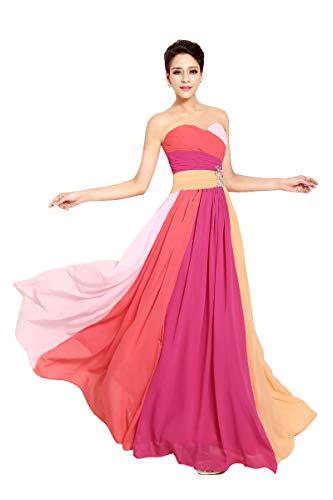 Ovender® Sukienka damska odświętna sukienka dla druhny, na wesele, sukienka koktajlowa, plisowana, elegancka, długa sukienka wieczorowa, bal