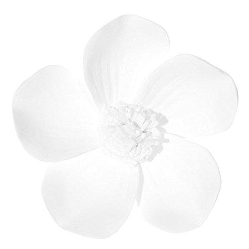 ShiShi Porzellanblume Blüte aus Bisquitporzellan Jasmin oder Kirschblüte zum Befestigen an Zweigen Durchmesser: 3,5 cm