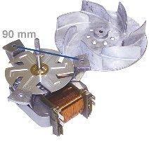 daniplus© Heißluftherdventilator , Gebläsemotor, Umluftmotor für Backofen, Herd mit Flügel passend für Bosch, Siemens, Neff 096825
