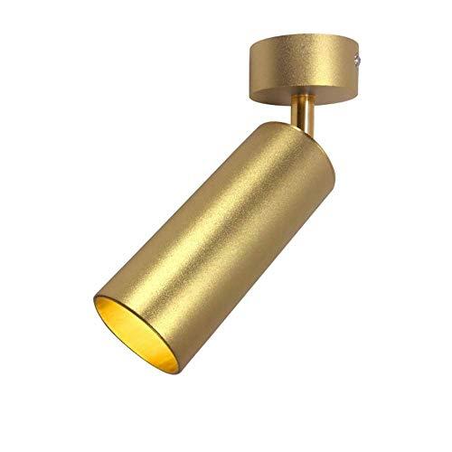 UWY Foco de Techo LED Dorado Moda nórdica Lámpara empotrada en el Techo montada en la Superficie Luz de Techo Redonda Creativa COB Panel de Rejilla Luces de Techo Reflector Comercial Integrado p