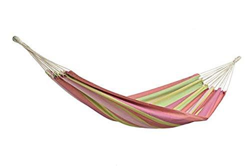 Amazon Tahiti Bubblegum Hangmat, 200 x 100 cm tot maximaal 120 kg in bonte gestreept.