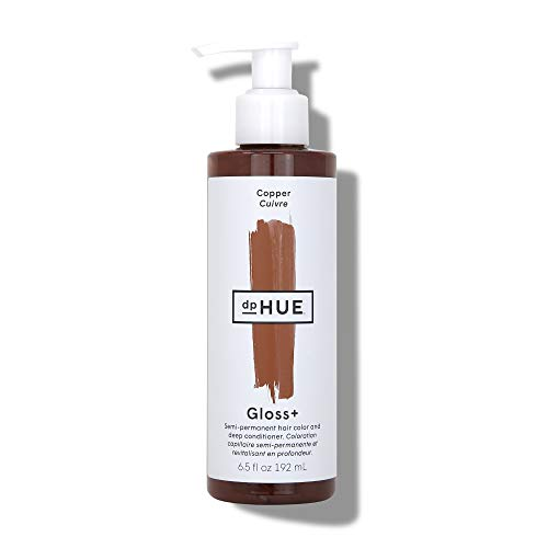 dpHUE Gloss+ - Copper, 6.5 oz - Color-Boosting Semi-Permanent Hair Dye & Deep Conditioner - Enhance & Deepen Natural or Color-Treated Hair - Gluten-Free, Vegan