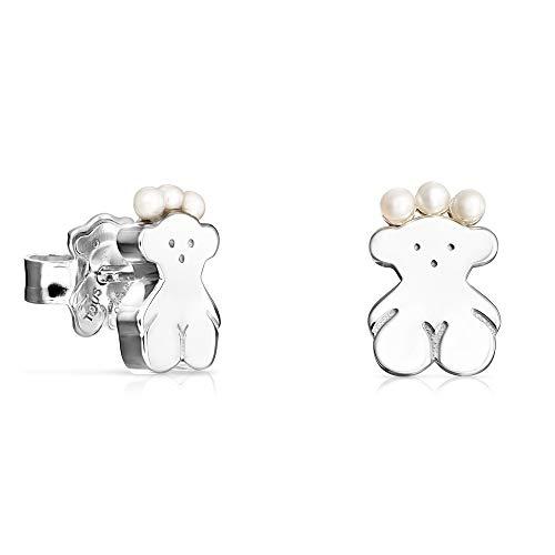 Pendientes Real Sisy oso de Plata y Perlas