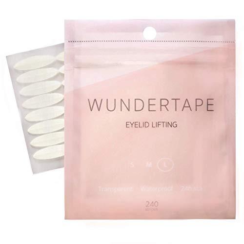 Schlupflider Stripes WUNDERTAPE® (144 Stück | Größe S+M+L) Schlupflid-Tape Streifen zum Augenlid-Lifting ohne OP! (wasserfest, 24h Halt, double eyelid lifting tapes) Augenlid-Tape