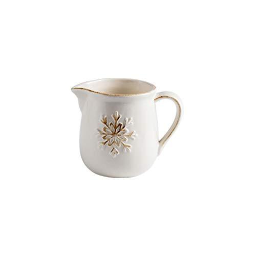 Jarra de Leche pequeña Varios Estilos de Leche de cerámica Creativa Jarra de Jarra de Jarra de café Crema de té Salsa de Salsa Salseras Pequeñas (Size : D)