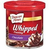 Duncan Hines, Whipped Chocolate Frosting, 14oz Tub (Pack of 3)