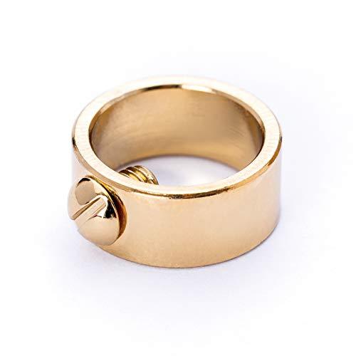 Stellring Messing vergoldet gold für Rohr Ø 10 mm seitlich Feststellstellschraube/veredelt Stellschraube Schraube Ring
