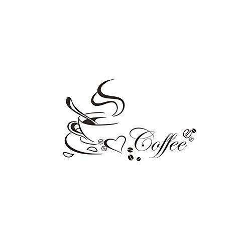 NewinStar Wandaufkleber Kaffeetasse Muster-Wand-Aufkleber-entfernbare Wand-Wandaufkleber Ausgangsdekor Schlafzimmer Wohnzimmer Sofa Kulisse