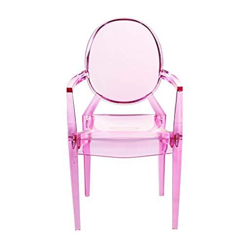 Yujum 1: 6 Puppenstuhl Simulierte Kunststoff Miniatur Miniatur-Stuhl Plastikstuhl Sessel Möbel Modell Puppenhaus Zubehör