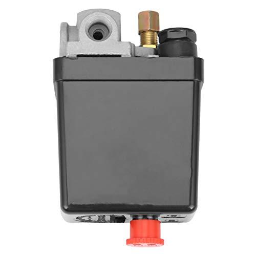 TOOGOO Interruptor de PresióN del Compresor de Aire de Servicio Pesado VáLvula de Control 90 PsI -120 PsI Negro