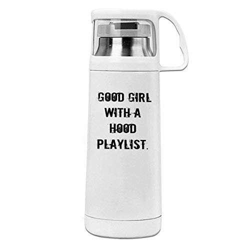 Bestqe Borraccia in Acciaio Inox,Termica Isolamento Good Girl with A Hood Playlist 11.8oz Travel Vacuum Insulated Cover Cup Stainless Steel Thermos Cup