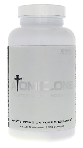 Atomic Strength Nutrition Atomic_One All Natural Testosterone Booster & Estrogen Blocker, 180 Count