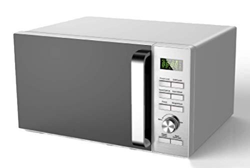 Ohmex OHM-MWO-2588DG - Horno de microondas con capacidad del horno de 25 L, 6 reloj digital, 230 V/50 Hz, función grill, color gris