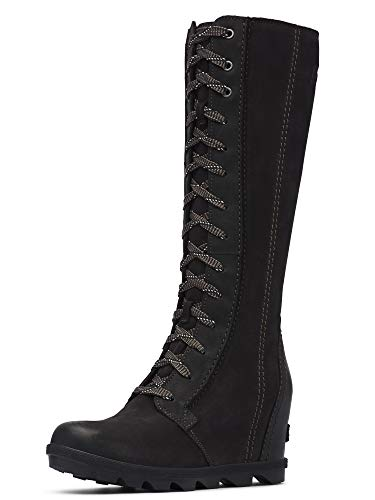 Sorel Women's Joan of Arctic Wedge Tall Boots, Black, 8.5 Medium US