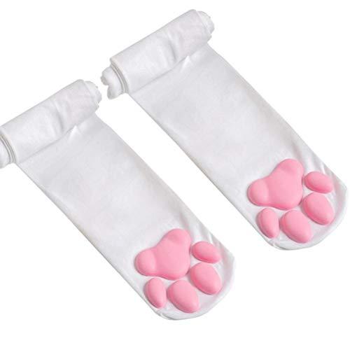 Overknee Sokken Cute Paw Cat Pad Sokken dij hoge sokken voor vrouwen Kitten Stocking