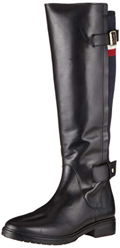 Tommy Hilfiger Damen MODERN Blanket LONGBOOT Hohe Stiefel, Schwarz (Black 990), 40 EU