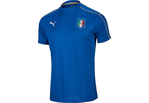 PUMA Boys FIGC Italia Kids Home Replica Shirt, Team Power Blue/White, Youth Large