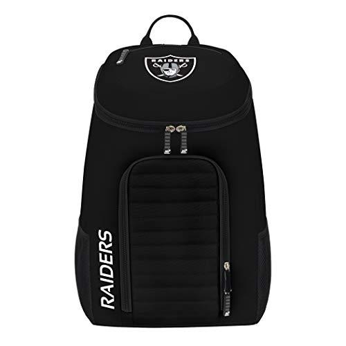 Officially Licensed NFL Oakland Raiders 'Topliner' Backpack, Black, 19' x 7' x 11'