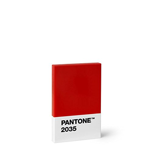 Copenhagen design Pantone Credit & Business Holder, Plastic Card Case, 95x60x11 mm, Red, 2035, One Size