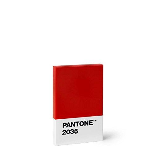 Pantone 108002035Tarjeta de Bolsillo plástico Rojo 2035C 6x 9,50x 1,10cm