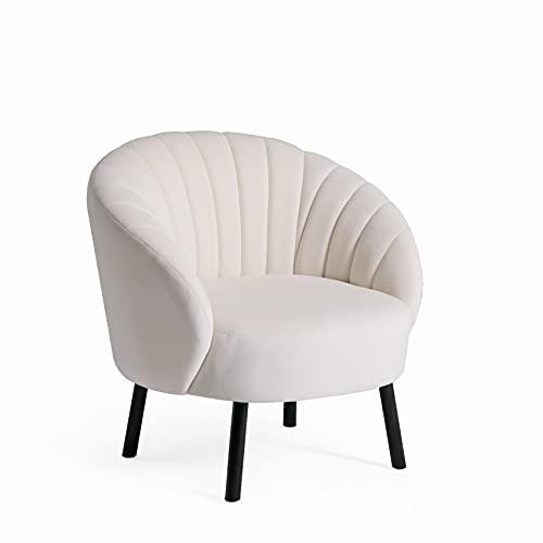 HIC High in the clouds Modern Wohnzimmer Sessel Sitzhöhe 40cm mit U-förmige Tuftingbespannung Lounge TV Sessel für Wohnzimmer und Schlafzimmer Sofa Stuhl bis Beige 150 kg