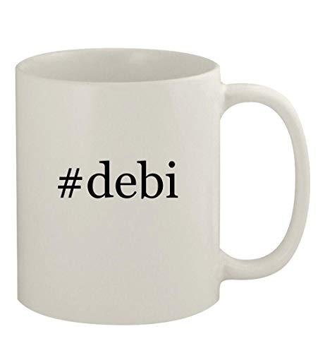 #debi - 11oz Ceramic White Coffee Mug, White