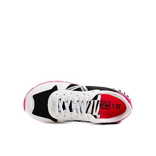 MUNICH 8208 Zapatillas bajo Junior Unisex Blanco/Negro/Fucsia 39