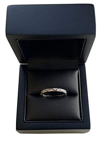 Dubai Gems - Anillo para mujer, diseño de diamantes de oro blanco con diseño de espiral, diseño de espiral, ideal para bodas, aniversario, regalo de compromiso para ella (O)