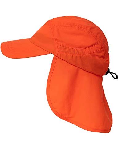 iQ-UV Erwachsene Cap+Neck Kappe Nackenschutz, HiVi orange, 55-61cm