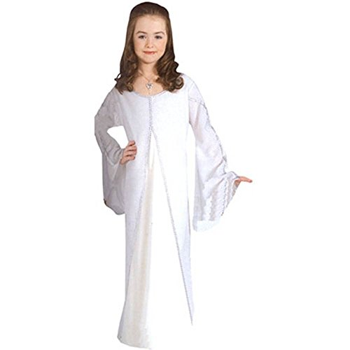 El seor de los anillos LOTR tm Arwen tm White Dress (Necklace not included) Children's sizes Small, Medium and Large (disfraz)