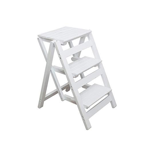 GZQDX Houten inklapbare trapschuim voor 3 dieren, stoel, bank, zitting, Utility-multifunctioneel, voor keuken, kantoor, badkamer, hoge kast, veranderen gloeilampen, wassen