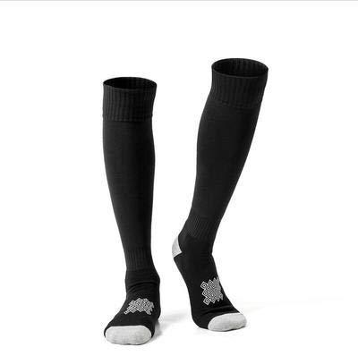 Men Soccer Socks Skidproof Women Long Sports Socks Cushion Performance Non-Slip Youth Football Socks- Best Medical, Nursing,Travel & Flight Socks-Running & Fitness(Two Pairs),Black