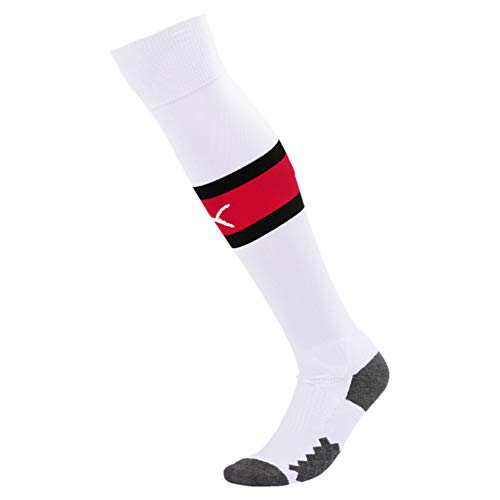 PUMA Herren Stutzen Team ACM Band, Puma White/Tango Red, 5, 755891
