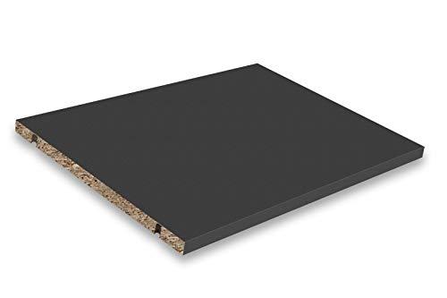 Stil.Zeit Einlegeboden/Größe: 43,4 x 31,6 cm/Farbe: Anthrazit Matt/passen für Sideboards & Lowboards mit Einer Breite von 1800 cm/Höhe individuell einstellbar/inkl. 4X Bodenträger