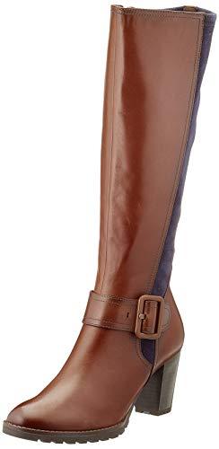 CAPRICE Damen 9-9-25607-25 Kniehohe Stiefel, Cognac Comb, 36 EU