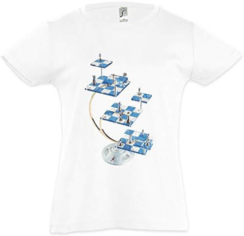 Urban Backwoods Star Chess Camiseta para Niñas Chicas niños T-Shirt Blanco Talla 2 Años