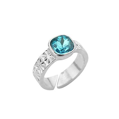 Yarmy Ring Verstelbare ring met diamantlegering, voor dames, verstelbare elektrische allergie, graduatie, cadeau voor vriend of familie
